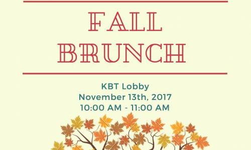MCDB Brunch November 13th, KBT Lobby