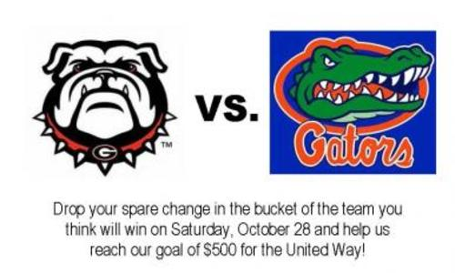 United Way Spare Change Drive Georgia Bulldogs vs. Florida Gators