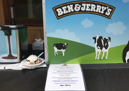 Ben and Jerry's ice cream selections