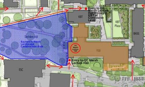 map to oc marsh auditorium