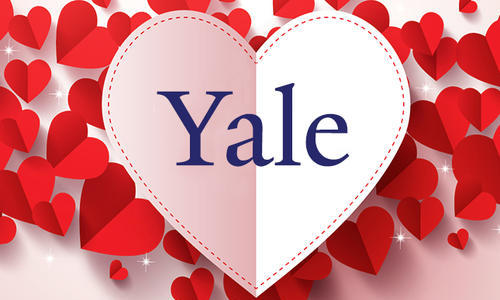 heart with the yale logo inside